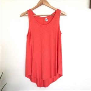 Old Navy Orange Sleeveless Hi Low Tunic